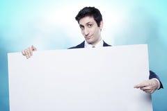 Geschäftsarbeitskraftporträt auf Finanzhintergrund Lizenzfreie Stockfotografie