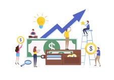 Geschäftsassistent finanziell, Vermögensverwaltung ILLUSTRATIONS-Vektorgraphik der flachen Karikatur Miniatur vektor abbildung