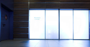 Geschäftsaufenthaltsraumtüren Stockbilder