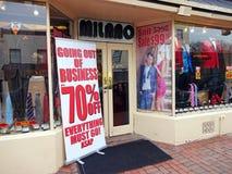 Geschäftsaufgabe-Verkauf Stockfotografie