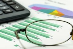 Geschäftszusammenfassung lizenzfreie stockfotos