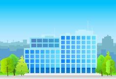 Geschäftsbürogebäude, Immobilienschattenbild Stockfoto