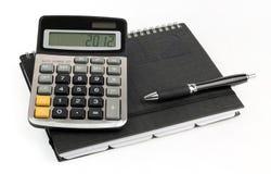 Geschäftsberechnungen für 2012 Jahr Stockfoto