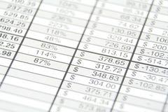 Geschäftsbericht Stockfoto