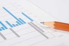 Geschäftsbericht analysieren Stockfoto
