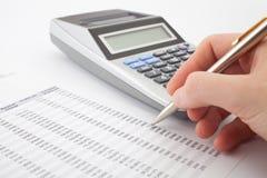 Geschäftsberichtanalyse Lizenzfreie Stockbilder