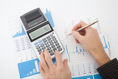 Geschäftsberichtanalyse Stockbilder