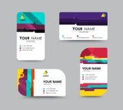 Geschäftsbeziehungs-Kartenschablonendesign Kontrastfarbdesign VE Stockbild