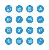 Geschäftsblaugeld Stockbilder