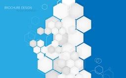 Geschäftsbroschürenabdeckungs-Designschablone Vektor Hintergrund für eine Einladungskarte oder einen Glückwunsch Lizenzfreie Stockbilder