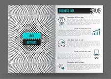 Geschäftsbroschürendesignschablonen-Plan Linie flache Art der Ikonenkunst stock abbildung
