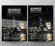Geschäftsbroschürenflieger-Designschablone Jahresbericht Geometrischer Hintergrund der Broschürenabdeckungsdarstellungs-Zusammenf stock abbildung