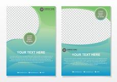 Geschäftsbroschürenschablone mit grüner und blauer Abstufungsfarbe lizenzfreie abbildung