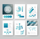Geschäftsbroschürenschablone mit infographics stock abbildung
