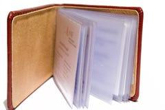 Geschäftsbuch getrennt auf weißem Hintergrund Stockbilder