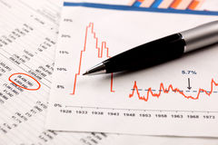 Geschäftsbuchhaltung Stockfotos
