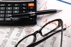 Geschäftsbuchhaltung Stockfoto