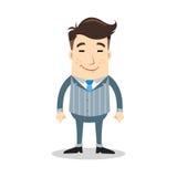 Geschäftscharakter mit Lächelnausdruck Lizenzfreies Stockfoto