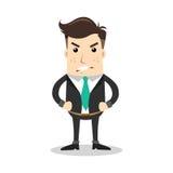 Geschäftscharakter mit verärgertem Ausdruck Lizenzfreie Stockfotos