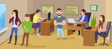 Geschäftscharakterszene Teamwork-Geschäftslokal Stockfotos