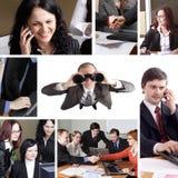 Geschäftscollage stockbilder