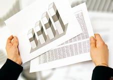 Geschäftsdame analysieren Stockbild