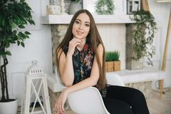 Geschäftsdame, schönes Mädchen Stockbilder