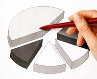 Geschäftsdame und -diagramme Lizenzfreies Stockbild