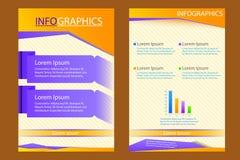 Geschäftsdarstellung broucher Design Stockbild