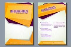 Geschäftsdarstellung broucher Design Stockfotos