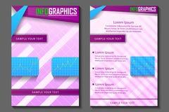 Geschäftsdarstellung broucher Design Stockbilder