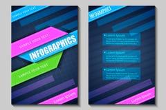 Geschäftsdarstellung broucher Design Stockfotografie
