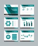 Geschäftsdarstellung und PowerPoint-Schablone schiebt Hintergrunddesign Lizenzfreie Stockbilder