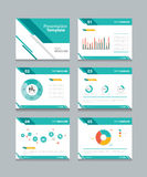 Geschäftsdarstellungs-Schablonensatz PowerPoint-Schablonendesignhintergründe Lizenzfreie Stockbilder