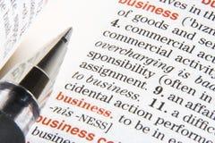 Geschäftsdefinition Stockfotos