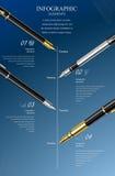 Geschäftsdesignschablone, infographic und Website Lizenzfreie Stockfotografie