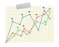 Geschäftsdiagramm 4 Stock Abbildung