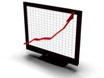 Geschäftsdiagramm auf Bildschirm Lizenzfreie Stockbilder