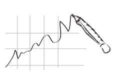 Geschäftsdiagramm - Bleistiftkunst Lizenzfreie Stockfotografie