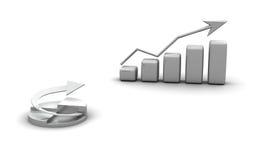 Geschäftsdiagramm, Diagramm, Diagrammgraphik Lizenzfreies Stockfoto