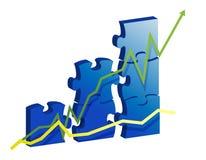 Geschäftsdiagramm erstellt durch Puzzlespielstücke Lizenzfreie Stockbilder