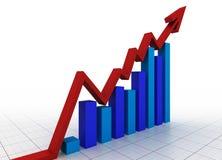Geschäftsdiagramm mit Rasterfeld Lizenzfreies Stockfoto
