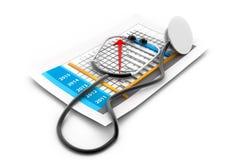 Geschäftsdiagramm mit Stethoskop Lizenzfreie Stockfotografie
