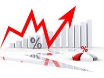 Geschäftsdiagramm oben Vektor Abbildung