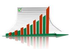 Geschäftsdiagramm und -dokument Lizenzfreies Stockbild