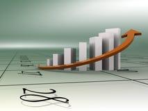 Geschäftsdiagramm und -kalender Stock Abbildung