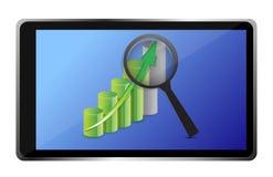 Geschäftsdiagramm und -tablette Stockfoto