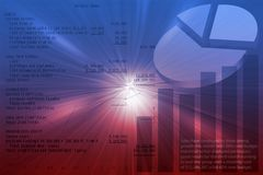 Geschäftsdiagramme lizenzfreie abbildung