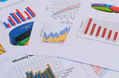 Geschäftsdiagramme und -diagramme Stockfotografie