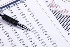 Geschäftsdiagramme und -diagramme Lizenzfreie Stockfotografie